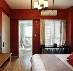 公寓大卧室阳台隔断装修效果图