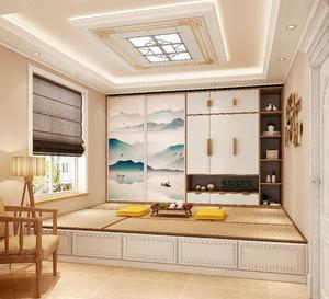 110平米房子中式榻榻米房间装修效果图
