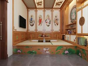 120平米房子中式榻榻米房间装修效果图