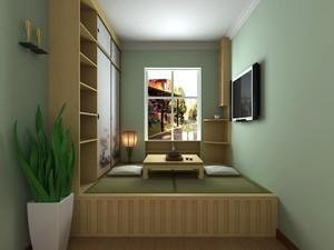 80平方小别墅中式榻榻米房间装修效果图