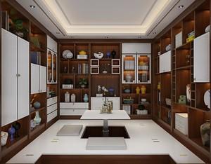 350平米别墅中式榻榻米房间装修效果图