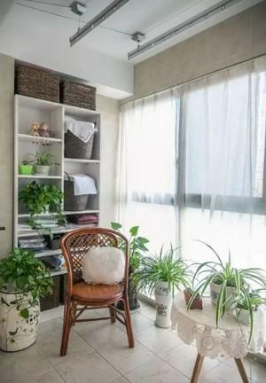 两居室北欧客厅阳台地板砖造型效果图