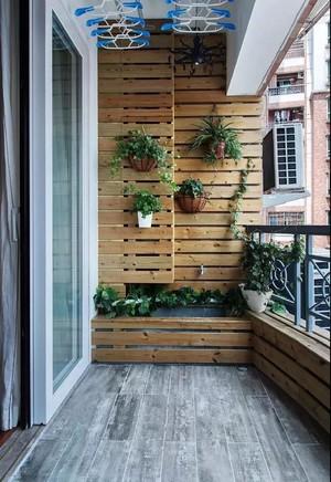 120平米混搭客厅阳台地板砖装修效果图
