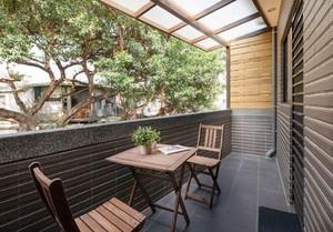 160平米别墅美式古典客厅阳台地板砖装修效果图