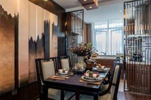 50平复式客餐厅阳台隔断装修效果图