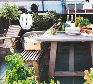 340平方房子别墅阳台露台花园装修效果图