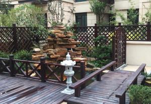 160平米别墅中式庭院花园阳台装修效果图