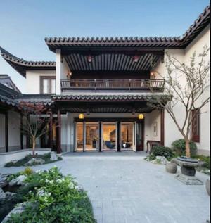 150平米中式庭院花园阳台装修效果图