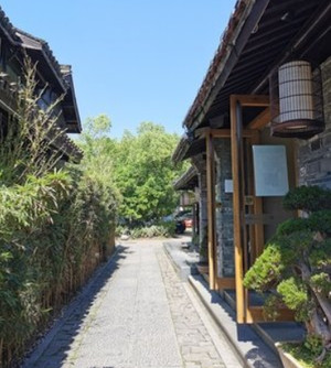 250平米房子中式庭院花园阳台装修效果图