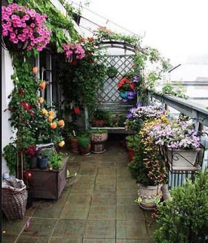 50平米房子复式二楼阳台花园装修效果图