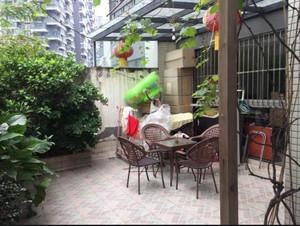 43平米公寓复式二楼阳台花园装修效果图