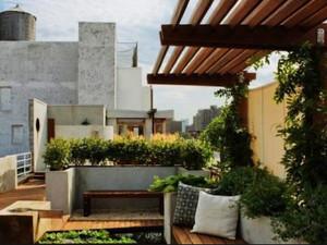 160平米复式二楼阳台花园装修效果图