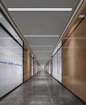 600平现代商务风格房屋走廊装修效果图
