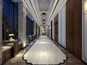 900平新中式风格房屋走廊装修效果图