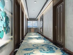 500平新古典风格房屋走廊装修效果图