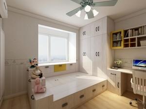 110平三居室清新简约风格10平小卧室榻榻米装修效果图