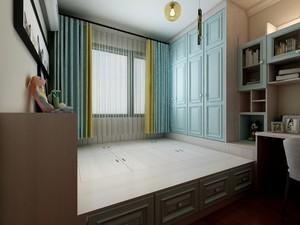 108平三居室美式风格10平小卧室榻榻米装修效果图