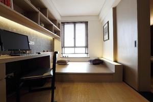 70平两居室现代原木风格10平小卧室榻榻米装修效果图