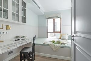118平三居室简约美式风格10平小卧室榻榻米装修效果图