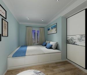 100平三居室简约清新风格10平小卧室榻榻米装修效果图