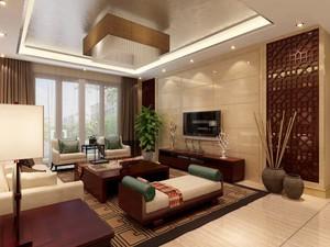 230平现代中式别墅电视墙装修效果图