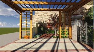 210平米小型新中式别墅庭院装修效果图