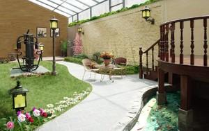 230平米小型新中式别墅庭院装修效果图