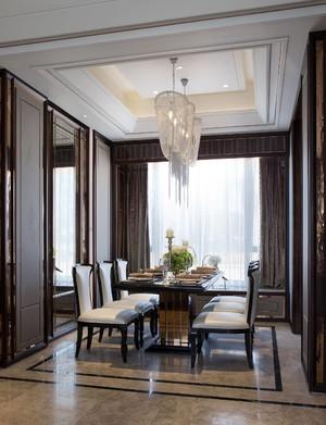 160平新中式别墅餐厅隔断装修效果图