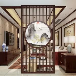 190平新中式别墅餐厅隔断装修效果图
