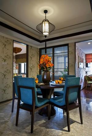220平新中式别墅餐厅隔断装修效果图