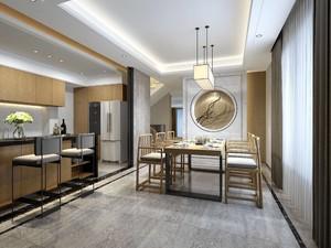 230平新中式别墅餐厅隔断装修效果图