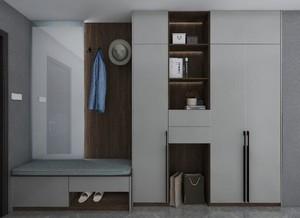 108平现代风格进门中式玄关鞋柜装修效果图