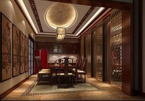 250平方别墅新中式中空客厅装修效果图
