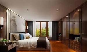 250平方别墅新中式主卧衣柜装修效果图