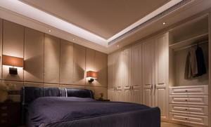 350平方别墅新中式主卧衣柜装修效果图