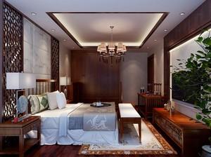 400平方别墅新中式主卧衣柜装修效果图