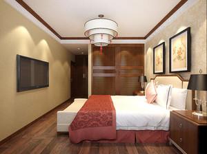 500平方别墅新中式主卧衣柜装修效果图