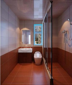 四居室别墅新中式卫生间吊顶装修效果图