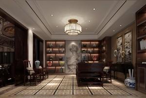 250平米现代新中式复式别墅装修效果图