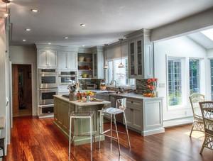 138平米新中式别墅开放式厨房装修效果图