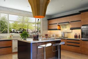 150平米新中式别墅开放式厨房装修效果图