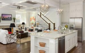 150平米房子新中式别墅开放式厨房装修效果图