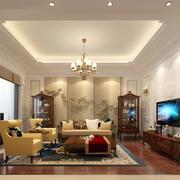 客厅后现代吊顶别墅装修