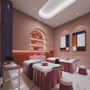 现代100平米美容院设计效果图