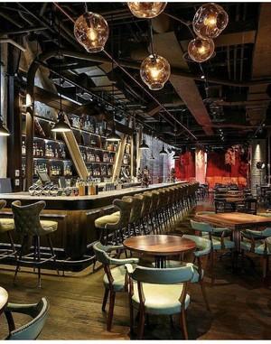 100平小型酒吧吧台装修效果图
