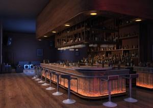 100平个性休闲酒吧装修效果图