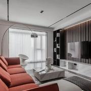 客厅现代背景墙100平米装修
