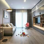 客厅简约地板三居室装修