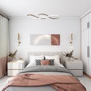 卧室简欧灯具100平米装修