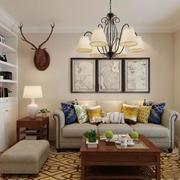客厅美式灯具100平米装修